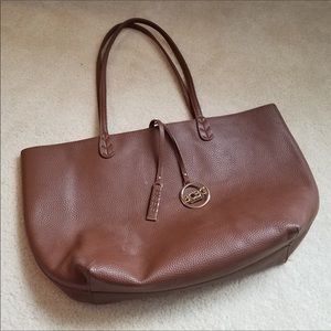 BCBG Brown Faux Leather Reversible Tote